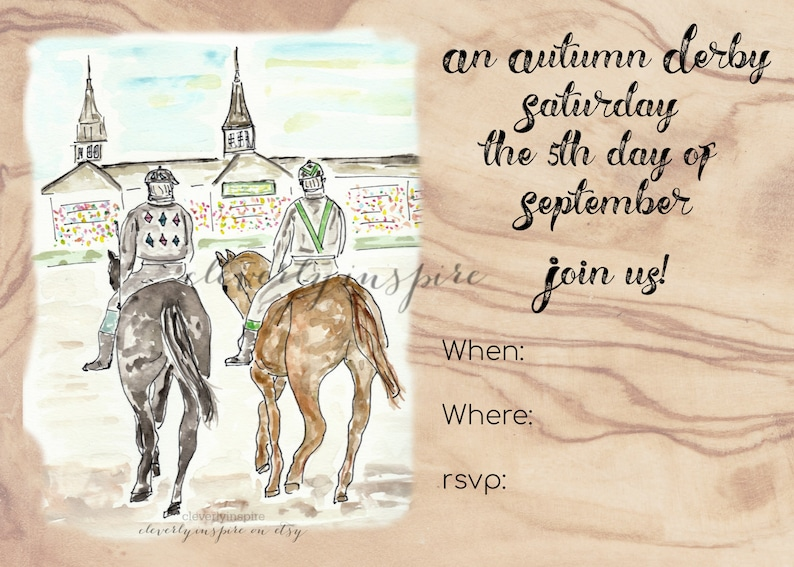 KY Derby 2020 Fall autumn digital invite download image 0