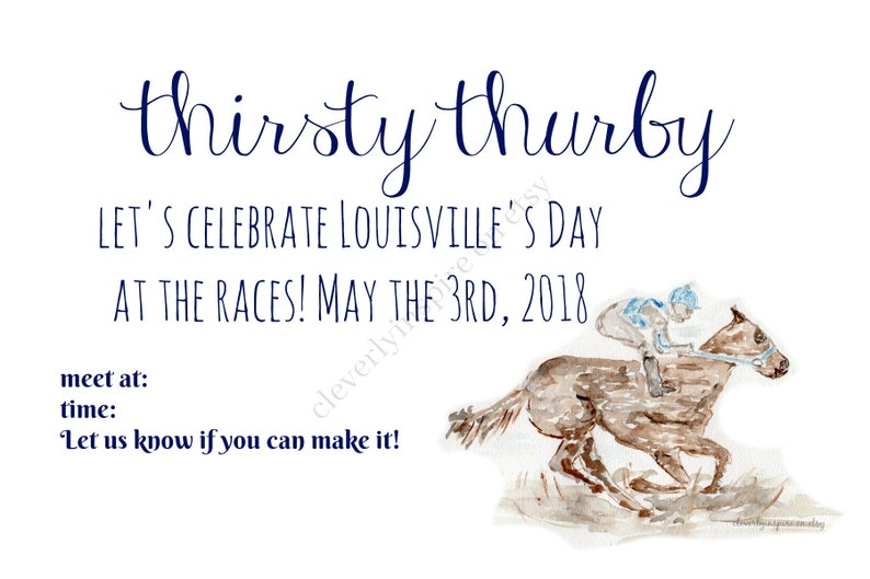 Thurby Party Invitation Printable Digital Download Derby image 0