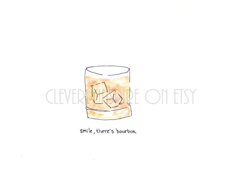 Apron: Bourbon Watercolor Art Kentucky Derby Kentucky image 0