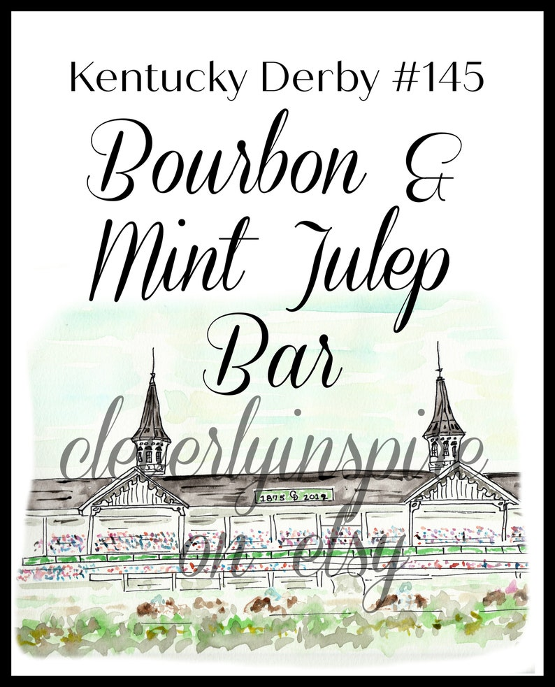 Kentucky Derby Party Printable  Run for Roses Kentucky image 0