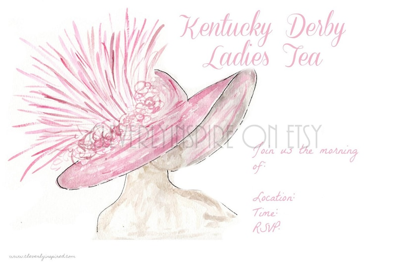Set of 10 Kentucky Derby Party Invitations Derby Party image 0