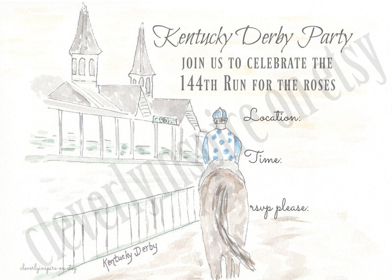Kentucky Derby Party digital download Invitations Derby image 0