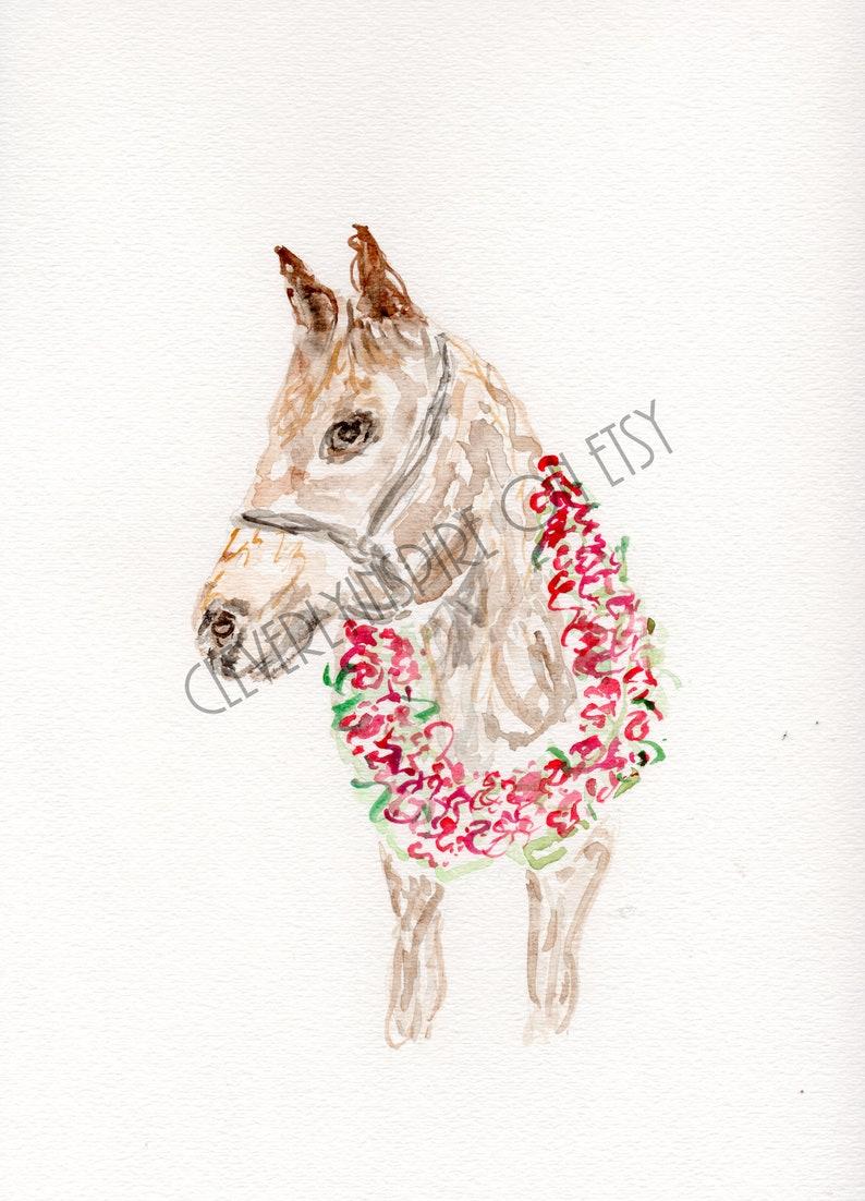 Derby Horse Kentucky Derby Watercolor Churchill Downs Run image 0