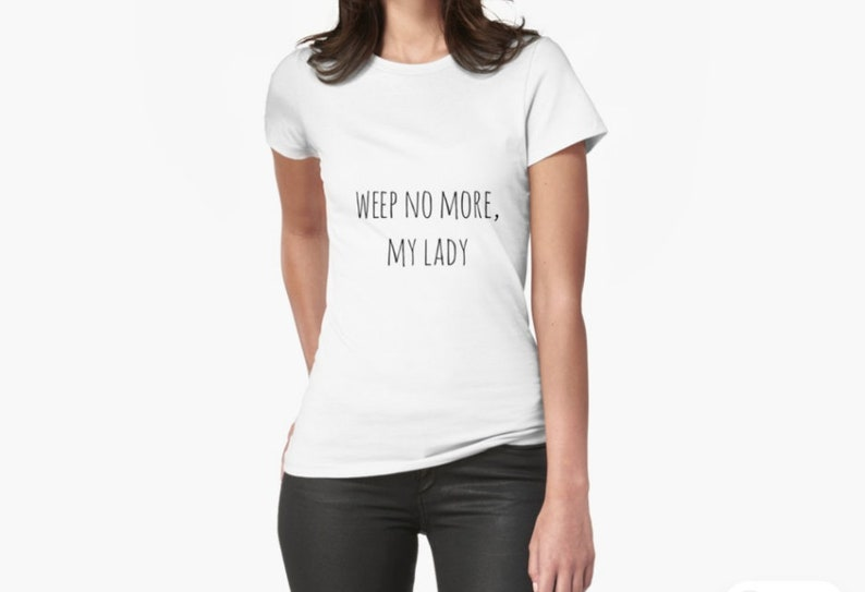Womens t shirt Weep no more Southern Old Kentucky Home image 0