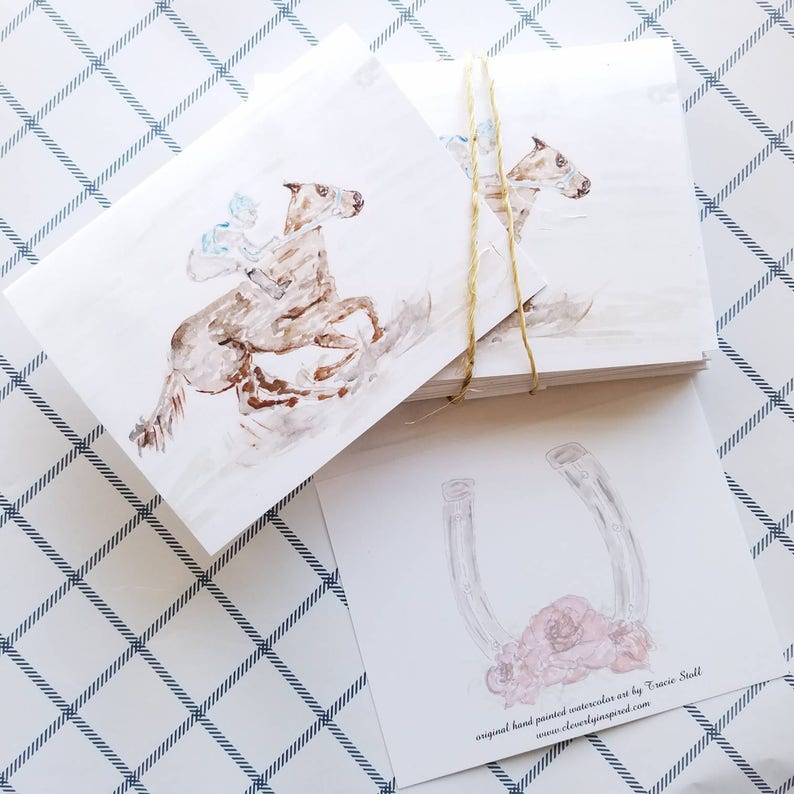 Set of 4 heavyweight card stock note cards with envelopes 5 x image 0