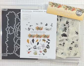 Papertrey Ink *Retired* Seasonal Borders: Autumn Stamp, Stencil, & Die Set