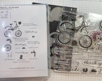 "Papertrey Ink ""Pedal Pusher"" Stamp & Die Set"