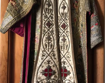 16th century peruvian chasuble and stole