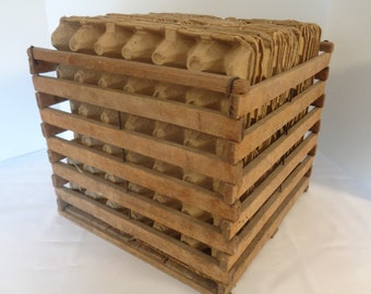 Wooden Egg Crate Etsy