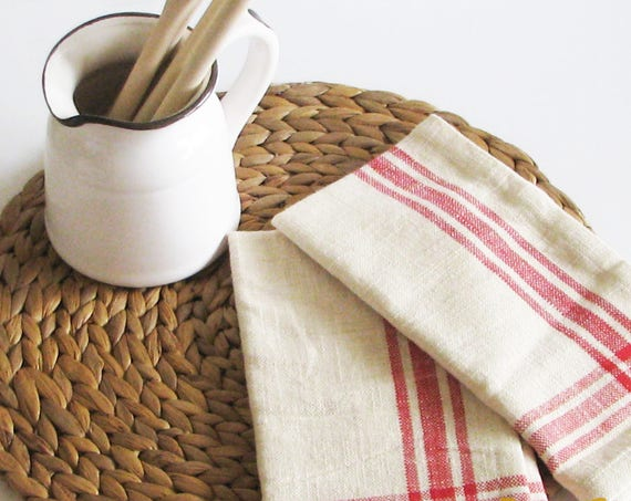 Red Stripe Napkins Farmhouse Style Country Living