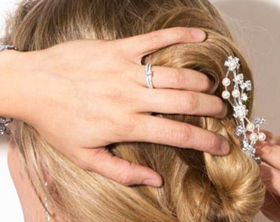Crystal Pearl Hair Comb