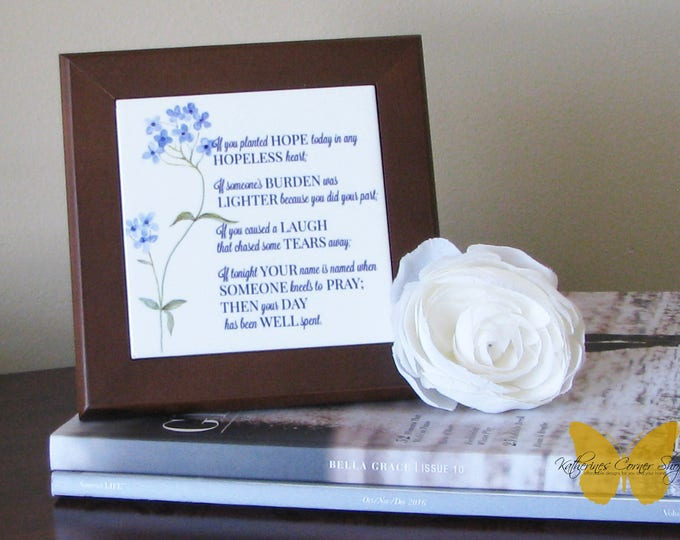 If You Planted Hope Wall Plaque, Table sign,home decor