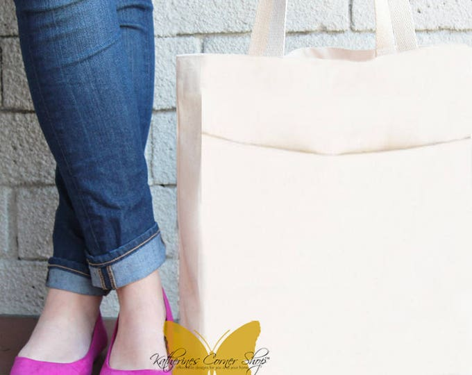 Extra Large Canvas Tote Bag With Pockets