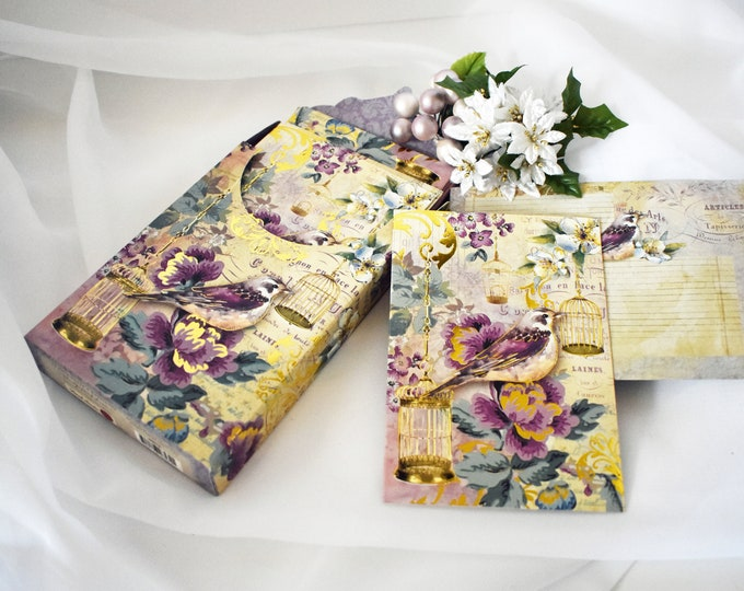 Songbird Note Cards in Decorative Box