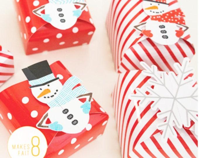 Snowman Favor Box Kit