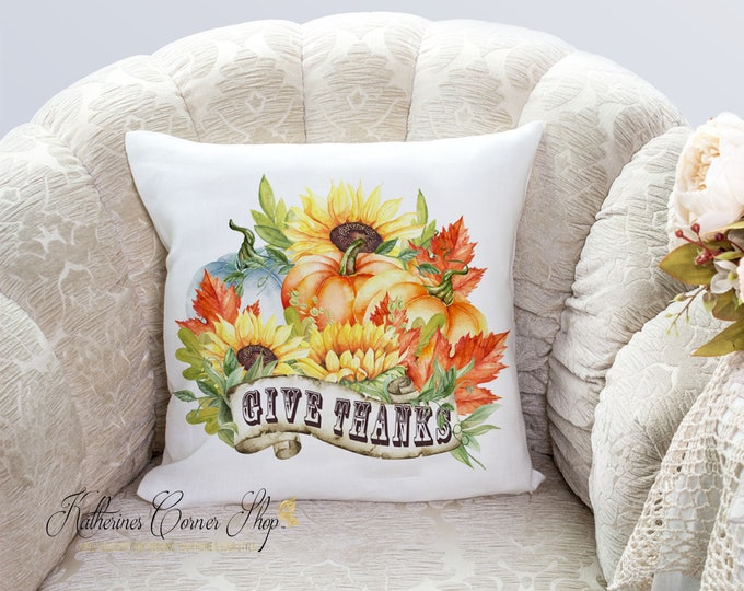 Give Thanks Autumn Pillow
