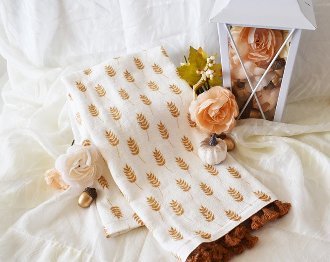 Autumn Tassel Towel
