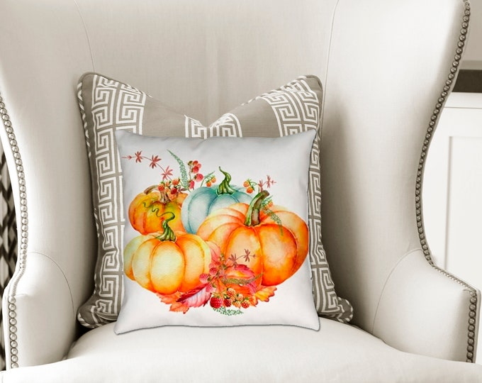 Pretty Pumpkin Patch Pillow Autumn Home Decor
