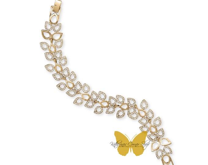 Crystal Leaves Bracelet