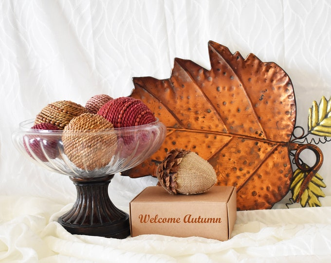 Autumn Home Decor Decorative Rattan Beaded Balls