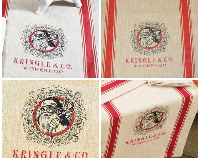 Vintage Style Kringle and Company Table Runner