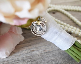 Lace Edged Angel Wedding Bridal Bouquet Photo Charm