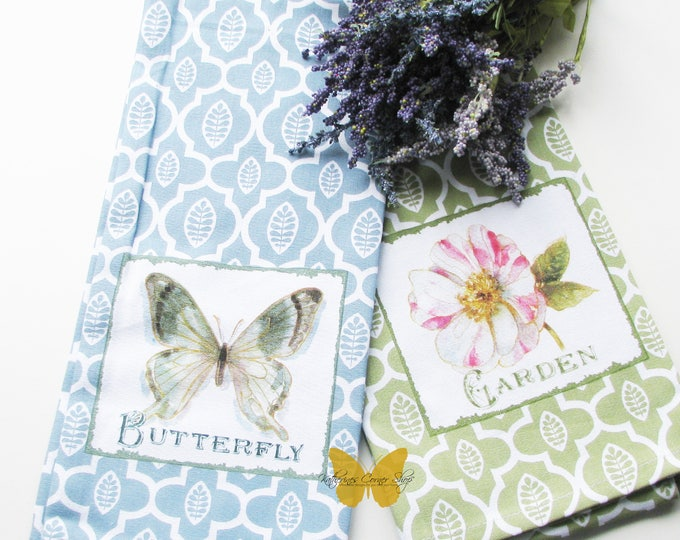 Butterfly Kitchen Towels Set of Two