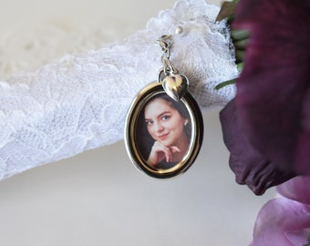 Bouquet Photo Charm | Bouquet Memorial Charm | Brides Gift | Memorial Photo Charm| Photo Charm | Gift for Bride | Memorial Wedding Charm