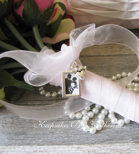 Bridal Bouquet Photo Frame Charm