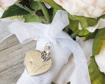 Silver Bouquet Locket In Memory of Dad | Dad Bouquet Locket | Gift For Bride | Bouquet Locket | Memorial Locket | Locket for Bouquet
