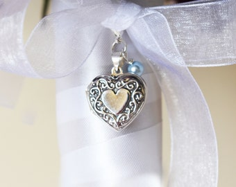 Victorian Style Bouquet Locket | Heart Wedding Bouquet Locket | Brides Bouquet Locket | Victorian Bouquet Locket | Vintage Bride