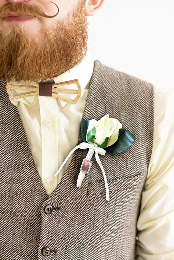 Grooms Boutonniere photo charm
