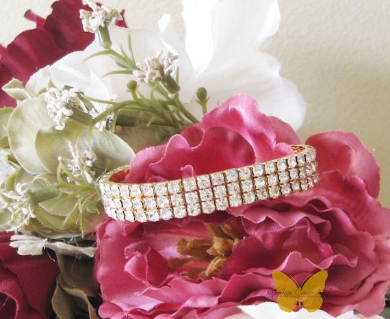 Crystal and Gold Bracelet