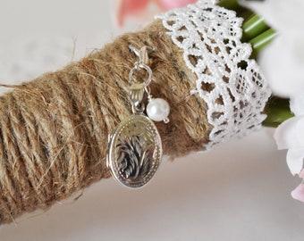 Locket for Bouquet | Bridal Bouquet Photo Charm | Bridal Bouquet Locket | Locket for Bouquet | Gift for Bride