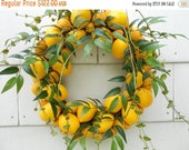SPRING FLING SALE Lemon To Lemon Wreath, Lemon Wreath, Lemon Door Wreath, Summer Door Wreath, Yellow Decor, Lemon Decor, Yellow Door Wreath,
