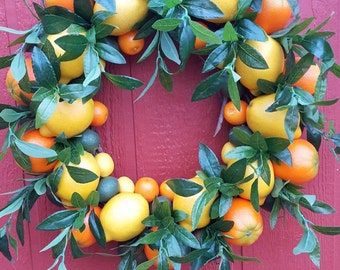 Citrus Burst Wreath...Lemon Wreath.....Orange Wreath.....Door Wreath.....Wall Decor
