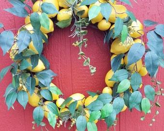 Lemon Tree Wreath.... Lemon Wreath....Front Door Wreath