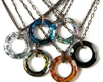 Cosmic Ring Swarovski Crystal Necklace