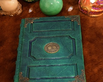 Celtic Tree of Life Grimoire Spellbook journal sketchbook Runes Wicca Druid larp cosplay