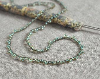 Mermaid crocheted seed bead necklace
