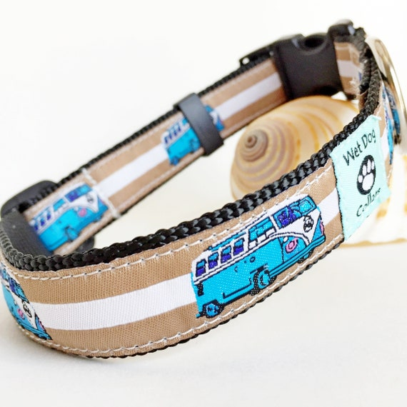Woody Wagon Dog Collar made with rust proof stainless steel and marine grade materials Small-Large