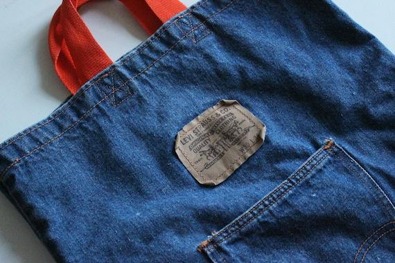 Levis Back Pocket Orange Tab Denim Tote Bag Catch