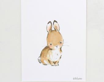 Forest art, woodland nursery, Hops, giclée print, Kit Chase artwork, 5x7, 8x10, 11x14