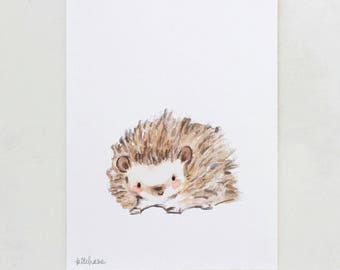 Woodland Nursery Art, forest decor, Prickles, giclée print, Kit Chase artwork, 5x7, 8x10, 11x14