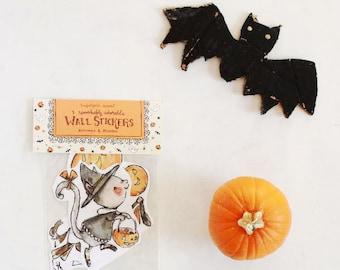 Halloween art, woodland nursery, Trick or Treat, Wall Stickers