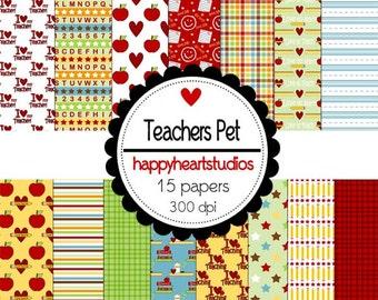 Digital Scrapbooking Teachers Pet-INSTANT DOWNLOAD