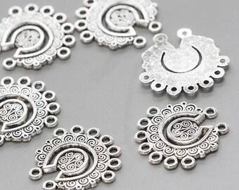 16pcs Oxidized Silver Base Metal Eearring Findings 39x12mm 26392Y-H-270A