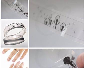One Piece Transparent Film for DIY Resin Jewelry - Filler for Bangle Bracelet or Ring