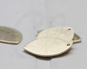 20 Pieces Raw Brass Teardrop Charm - 20x14mm (3845C-J-351)