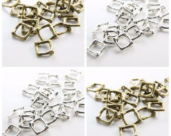 11219Y-B-238B 30pcs Antique Brass Tone Base Metal Spacers-Heart 9x8mm